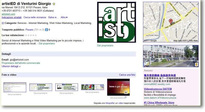 Scheda Google Places
